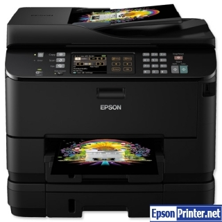 How to reset flashing lights for Epson WorkForce WP-4545 printer