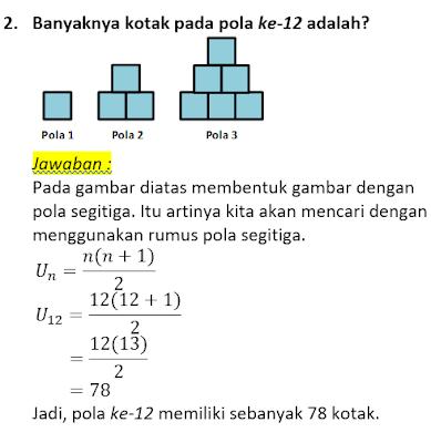 contoh soal dan pembahasan pola bilangan 2