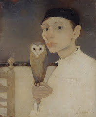 MANKES Jan Self-Portrait with Owl 1911