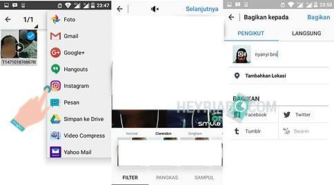 melalui smartphone Android sesungguhnya sangat gampang dilakukan Cara Upload Video Smule ke Instagram di Android
