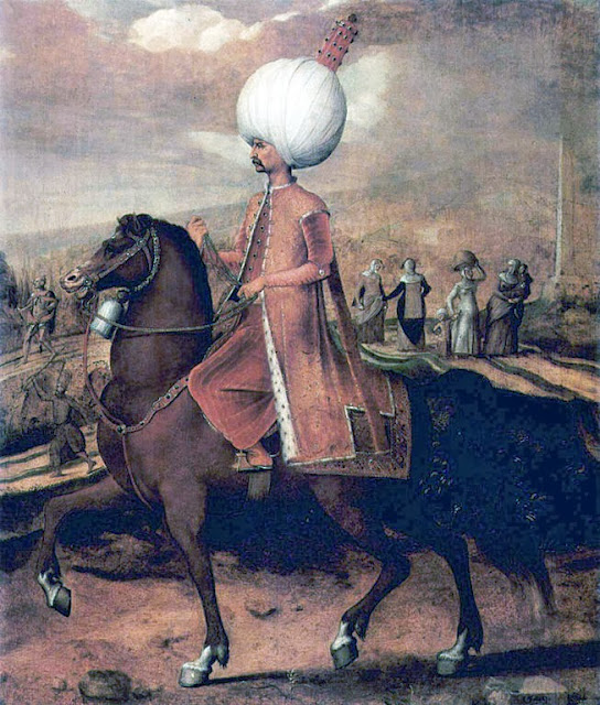 Hans Eworth - Suleiman the Magnificent on horseback