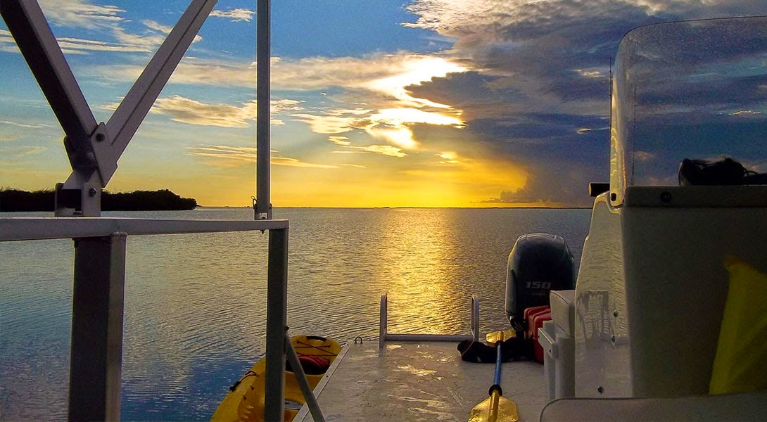 Enjoy the Sunset view while kayaking in Key Largo.