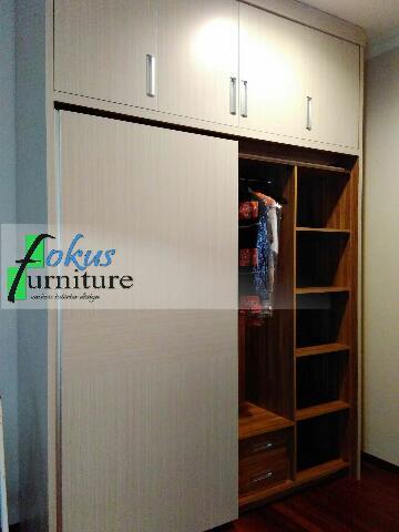 wardrobe lemari pakaian bsd pintu sliding/geser