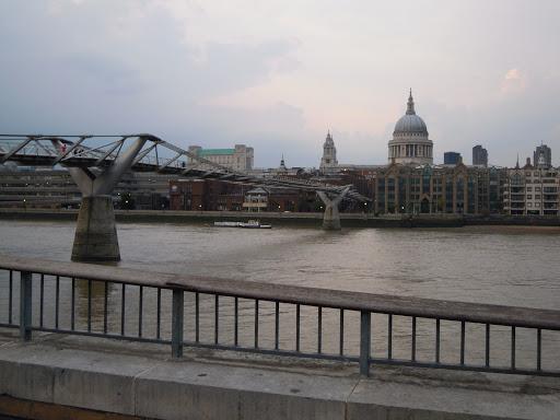 Millenium Bridge view - from best walking tours of London - including Harry Potter!