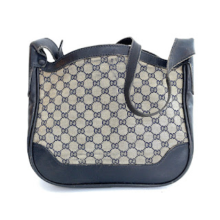 Vintage Gucci Monogram Black Bag