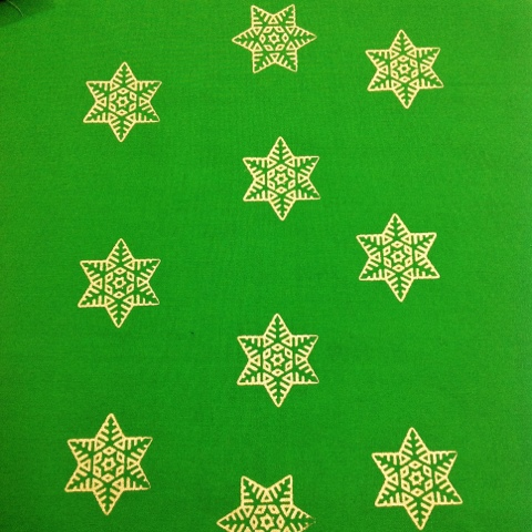 Hanukkah, Christmas snow flakes metalic print fabric