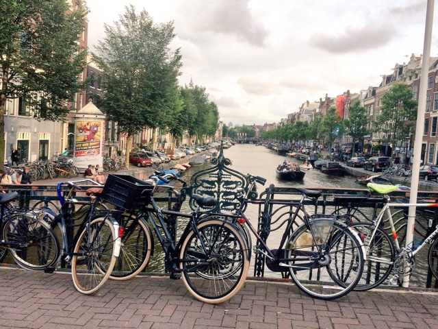 Bicycles and canals Amsterdam