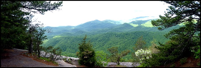 02b7 - Looking Glass Rock Hike - Panoramic View