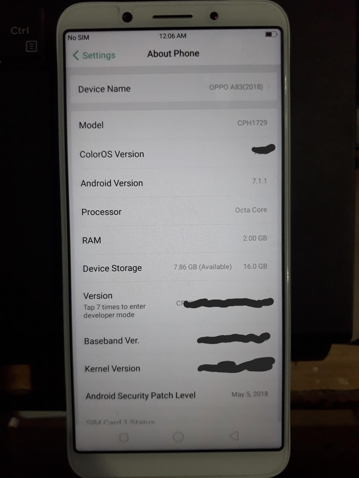 Oppo A83 CPH1729 After Flash Display Light Not Working Fix