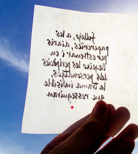Escrits en tinta invisible; Ferran Cerdans