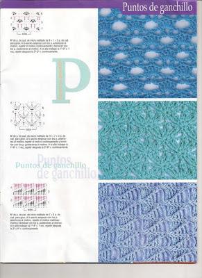 muestrario de puntos crochet: