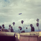 The #GoodYearBlimp was viewable from #ParamountStudios yesterday. #oscars #hollywood