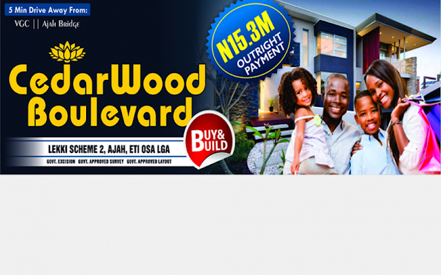 Cedarwood Boulevard Estate - ₦15,300,000 Per Plot