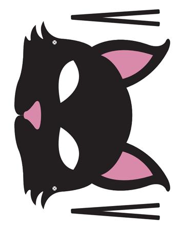 careta gato con bigotes