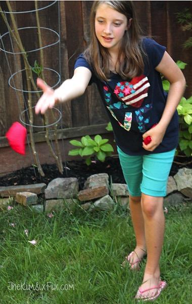 Beanbag toss