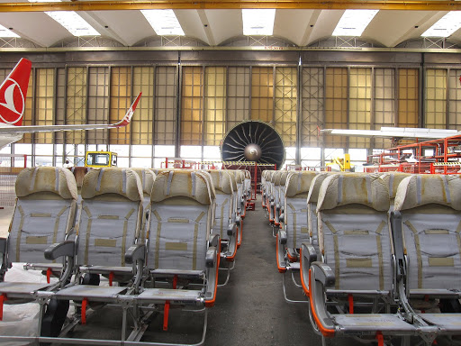 Seats past their use. Turkish Technic, Turkish Airlines