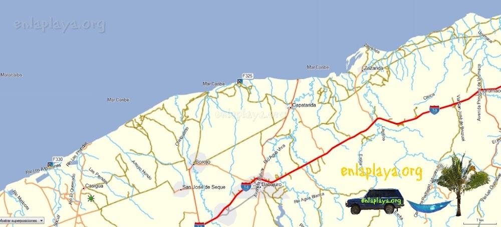 Mapa de Playas del Sector Dabajuro