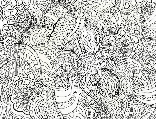 Hard Printable Coloring Pages