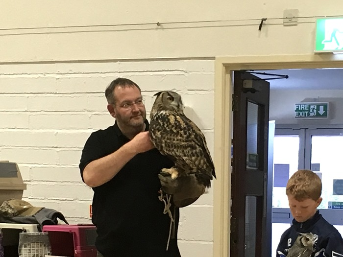 10 Chris with the European Eagle Owl