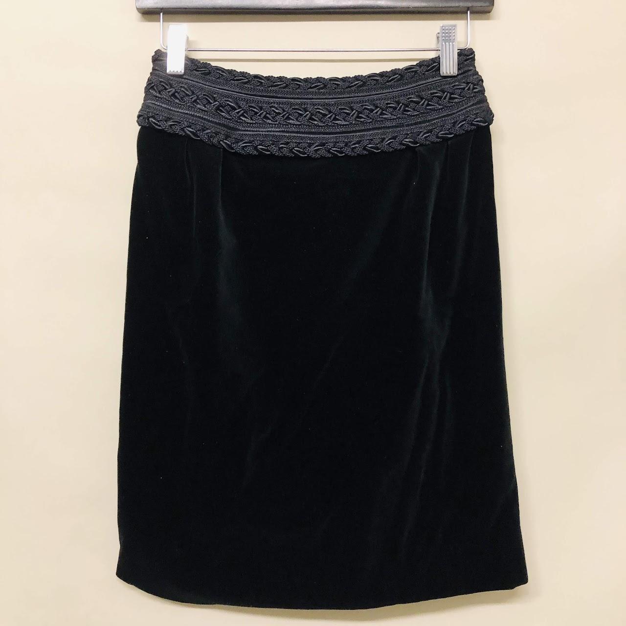 82748e494cad Céline Velvet Skirt