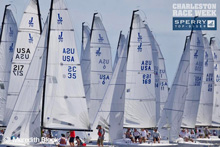 J/70s sailing Charleston Race Week- starting line