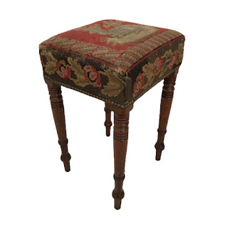 Needlepoint Top Stool