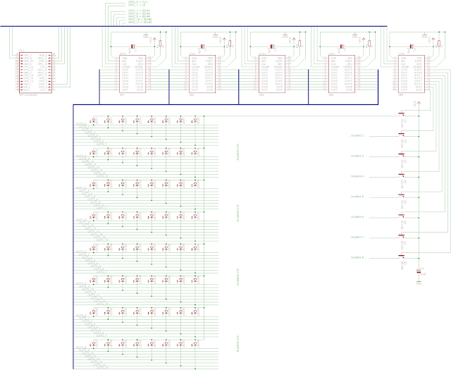 bpi inside  led cube  scaling circuit to 8x8x8
