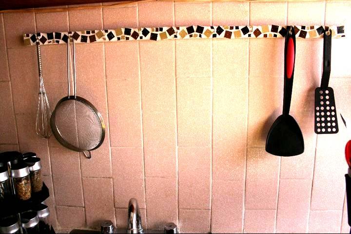 Arte mosaico porta utensilios cocina belleza horizontal for Porta utensilios cocina