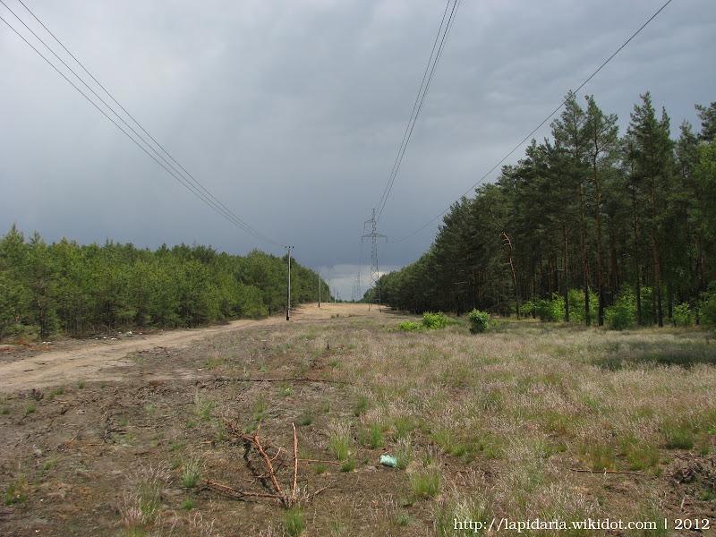 Główny trakt do osady od strony zachodniej