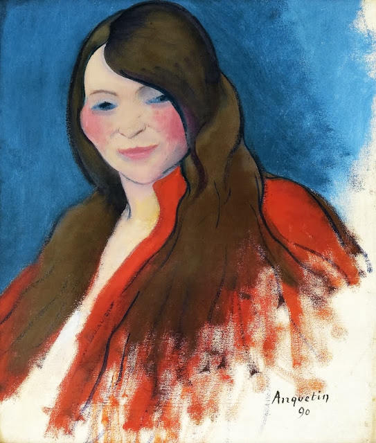 Louis Anquetin - Portrait of a Young Woman with Long Hair