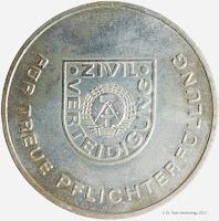278a Medaille für treue Pflichterfüllung in der Zivilverteidigung der Deutschen Demokratischen Republik in Silber www.ddrmedailles.nl