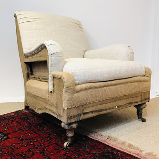 Restoration Hardware Deconstructed English Roll-Arm Chair #1