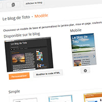 Classification des modèles Blogger