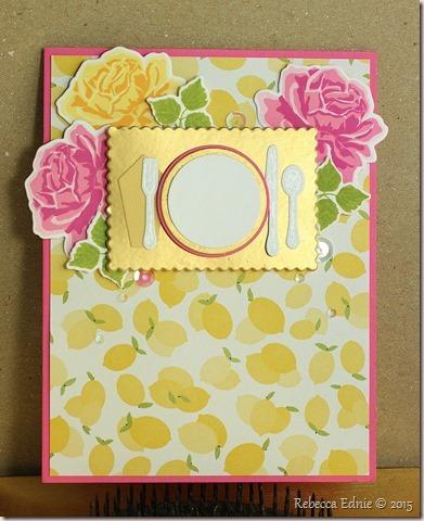 fusion lemon n rose place setting card