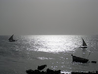 Dhow boats at sunset - Stone Town, Zanzibar