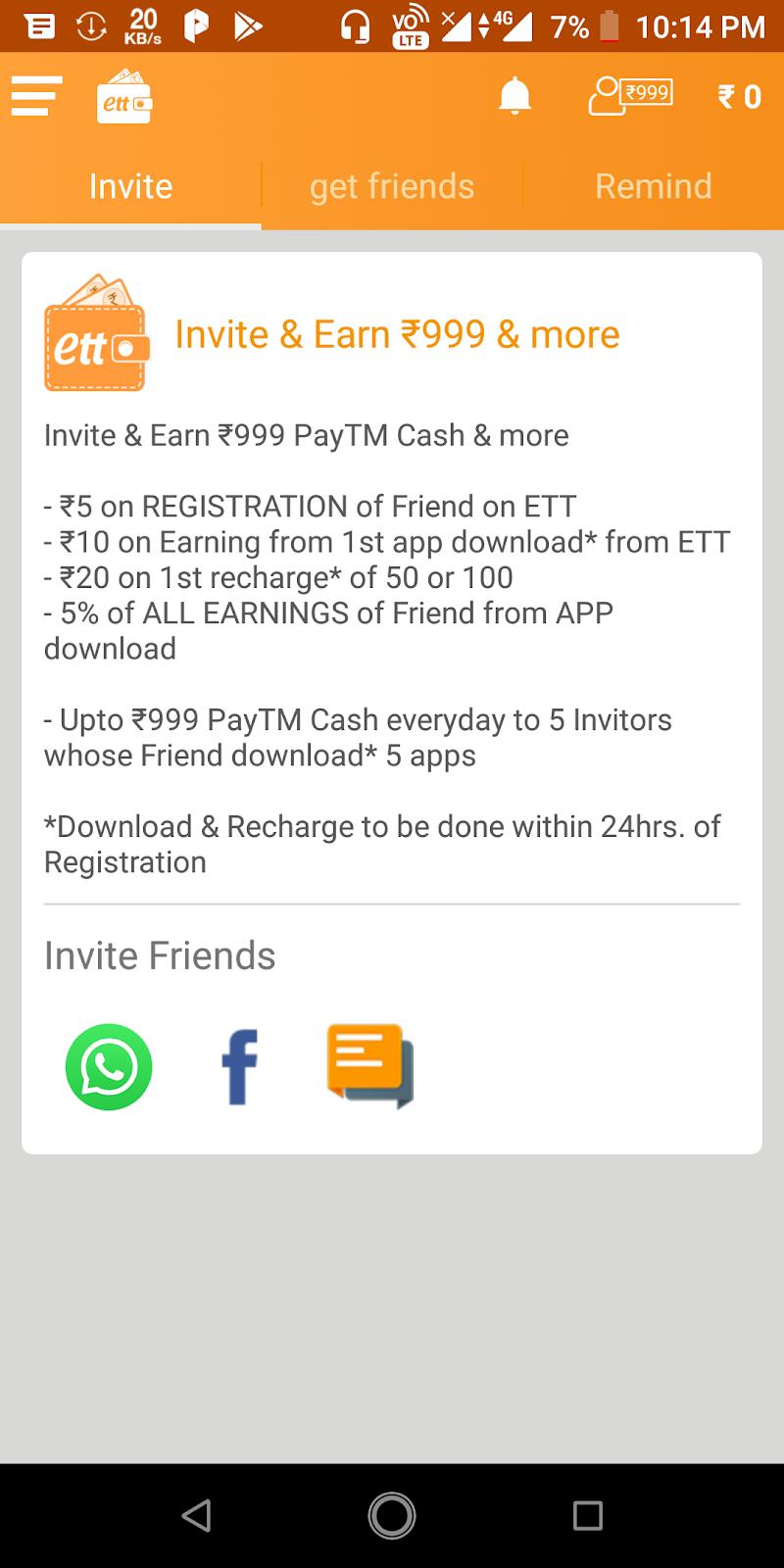 Earn Talktime Invite Friends 5 RS unlimited Tricks