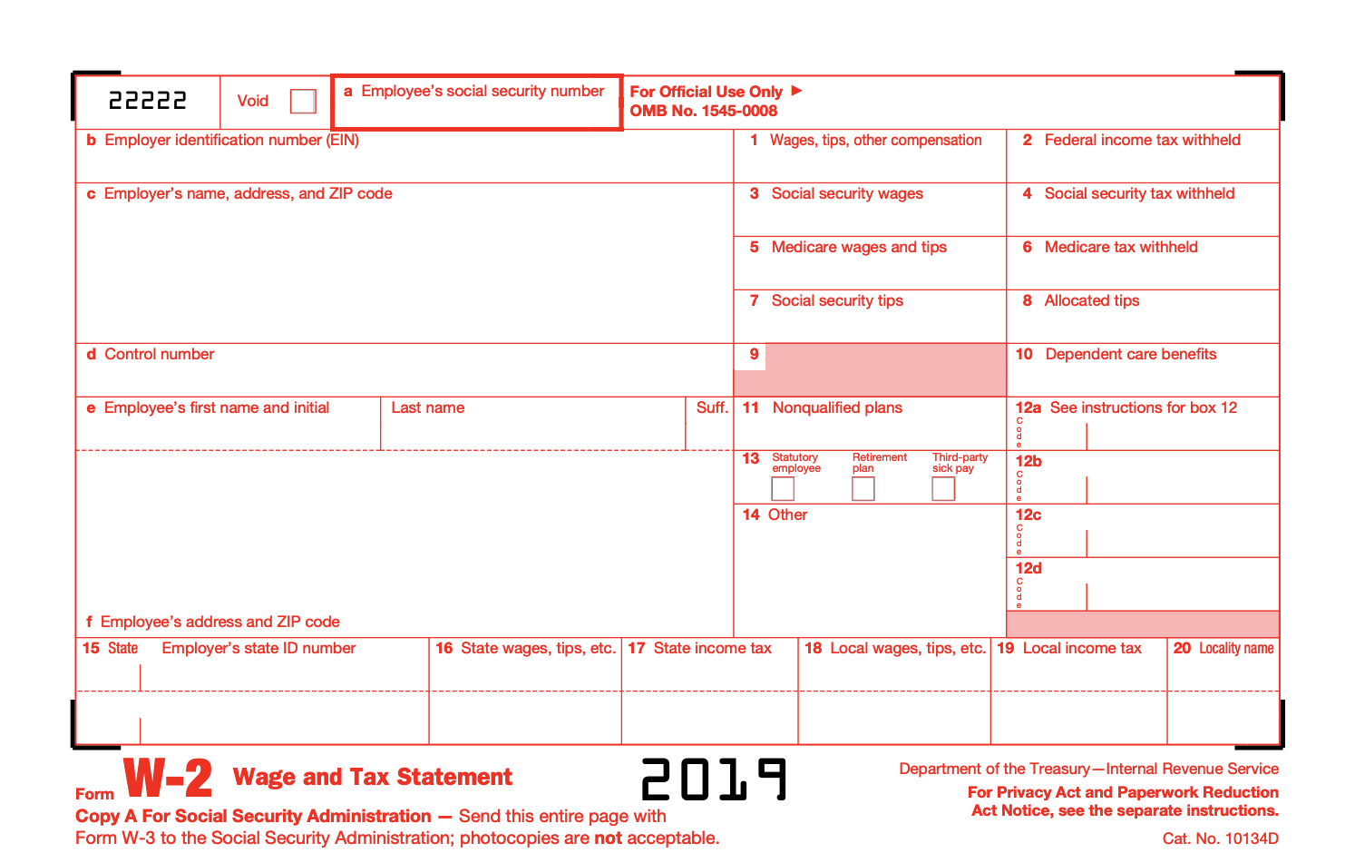 What Is Irs Form W 2