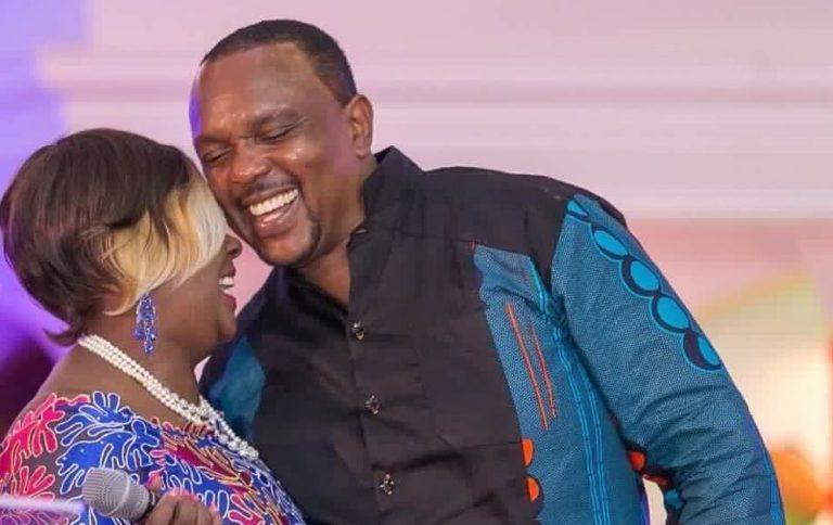 Photos of Allan Kiuna and his big booty wife Cathy Kiuna in Church