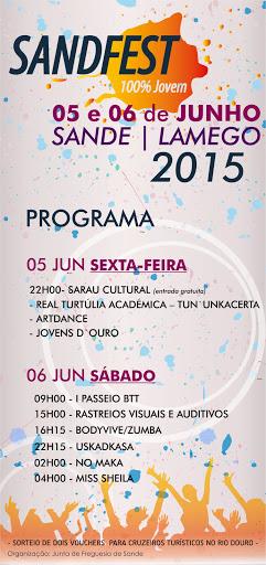 Programa - SANDFEST - Sande - Lamego - 5 e 6 de junho de 2015
