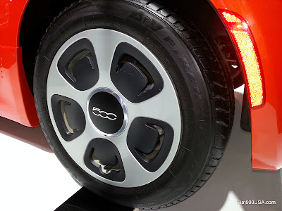 Fiat 500e wheel