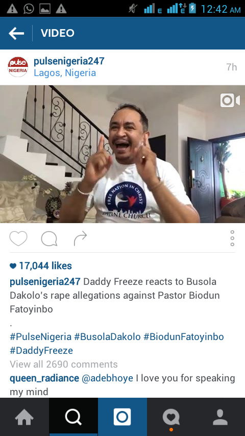 Daddy Freeze Reacts About the Rape Allegation