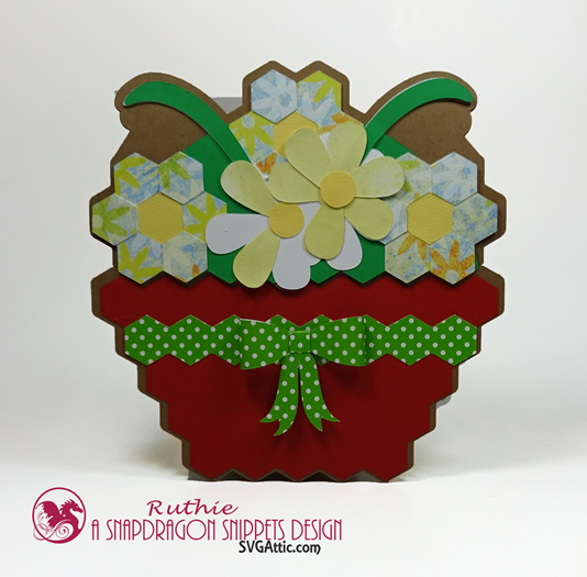 Garden basket hidden gift card - SnapDragon Snippets - Ruthie Lopez