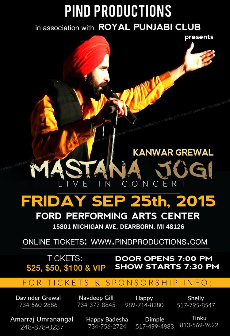 Kanwar Grewal Mastana Jogi Live in Concert in Detroit Michigan