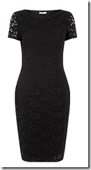 Precis Petite black lace dress
