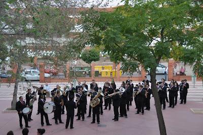 La Banda Municipal de Música de Pozoblanco durante la diana floreada del 22-9-2011. Foto cedida por Antonio * www.bandamunicipaldepozoblanco.blogspot.com