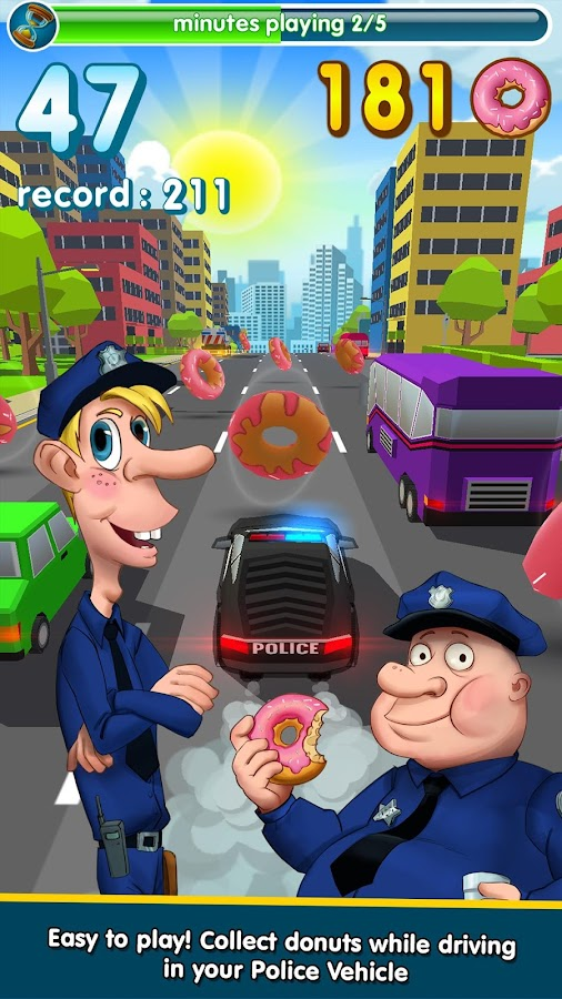 Hunger Cops 🚔 Race for Donuts- screenshot