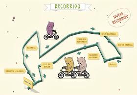 Recorrido Fiesta de la Bicicleta de Madrid 2013