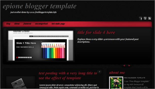 Episone Theme Blogger Template