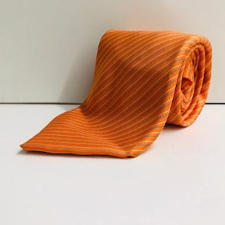 Hermes Orange Tie