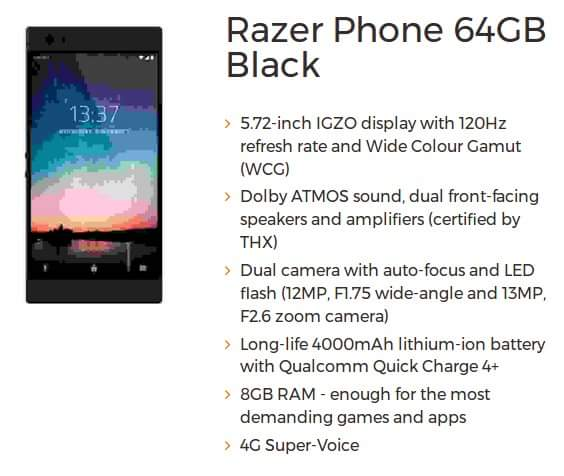 هاتف اندرويد جديد من شركة ريزر مخصص للالعاب تعرف على مواصفاته المسربة ، هاتف Razer Phonee ، هاتف العاب ، مواصفات Razer Phonee ، هاتف الالعاب من ريزر ، جهاز Razer Phonee ، مواصفات Razer Phonee ، سعر Razer Phonee ، هاتف مخصص للالعاب ، جهاز اندرويد مخصص للالعاب ، موبايل العاب
